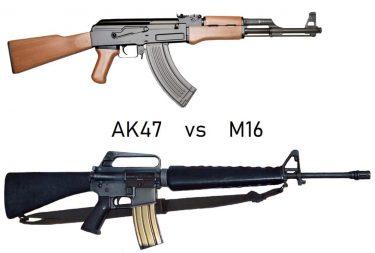 AK47とM16(AR15)を比較してみた
