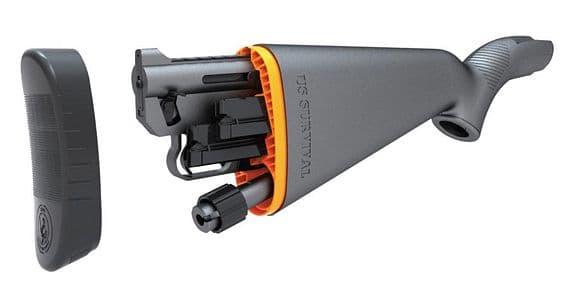 分解した銃身・機関部をストックに納められるライフルAR-7
