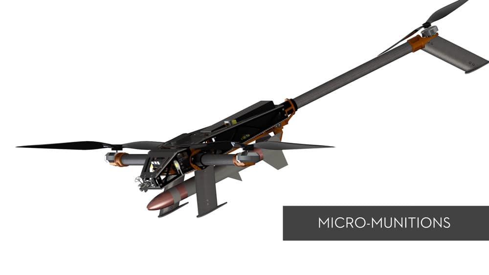 SKYBORNE |米陸軍が採用を検討するグレネードを搭載するマルチ武装ドローン