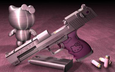 日本が世界に誇るハローキティは銃のデザインでも人気