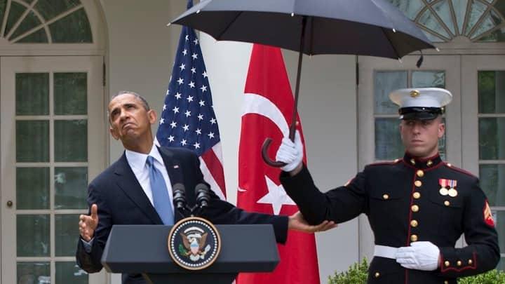 海兵隊は傘をさしてはいけない!のルールが変わる