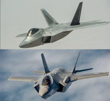 F22ラプターとF35ライトニング、どちらが最強なのか比較してみた