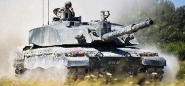 チャレンジャー2戦車の都市戦型モデルのストリートファイター2は透けて見える