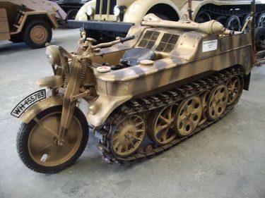 バイク?トラック?ドイツ軍の「ケッテンクラート(Kettenkrad)」