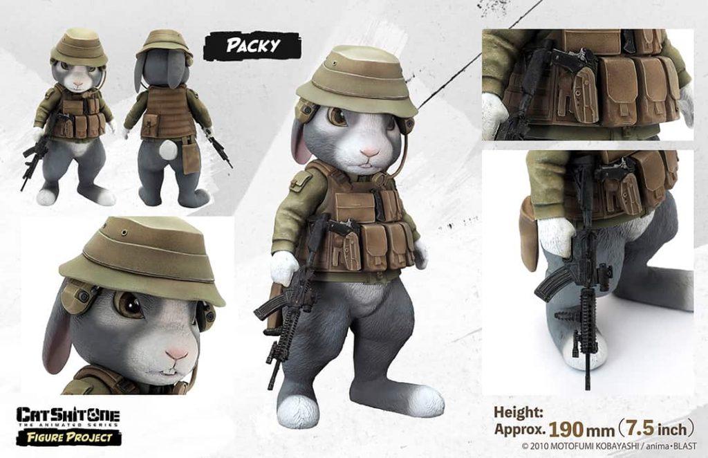 ミリタリーCG映画『 CAT SHIT ONE 』幻のフィギュア《 パッキー&ボタスキー 》クラウドファンディング開始!