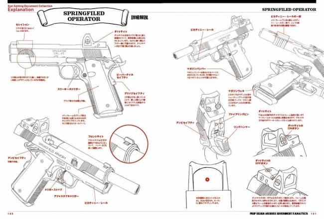 """機動警察パトレイバー」の劇場版原画や人気アニメのメカデザイン担当の著者が拳銃 """"ガバメント""""を徹底解説。『ハンドガン作画設定資料集 』"""