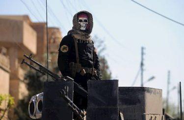 スカルマスクを付けたイラク特殊部隊GoldenDisvisonは正に死神