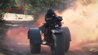 ベラルーシ軍はPKM機関銃を搭載した戦闘三輪車をテストしています