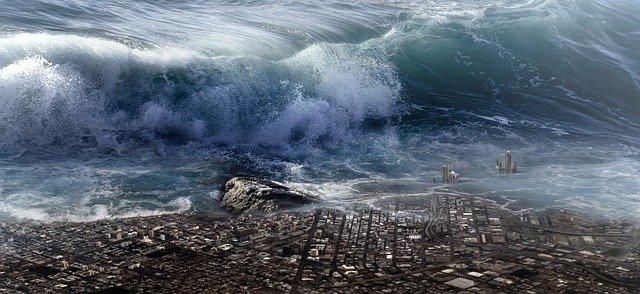 600メートルの津波を起こす