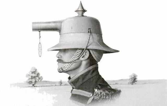 """ヘルメットと銃が一体化した""""Albert Bacon Pratt's """"ヘルメット銃"""