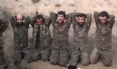 アゼルバイジャン軍はアルメニア軍の捕虜の映像を流し心理戦を行います