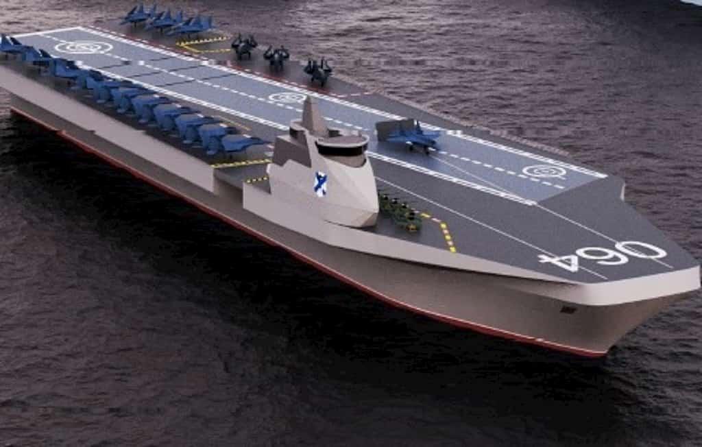 ロシアのネフスキー設計局が新しい空母のコンセプトを発表