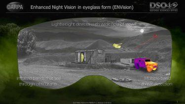 DARPAは次世代のナイトビジョンENVisionを開発しています