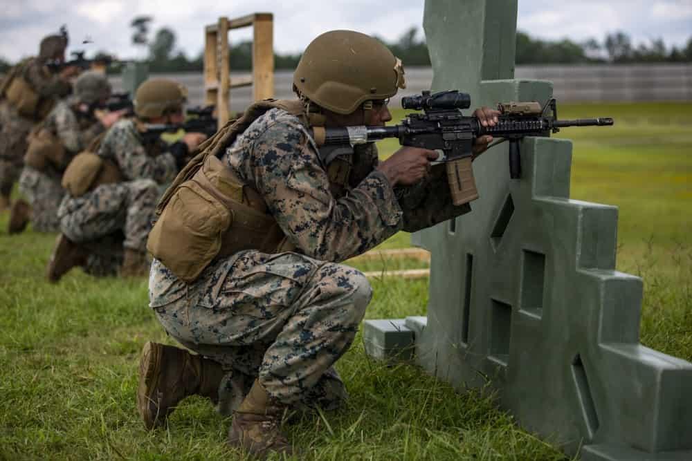 米海兵隊の射撃技能によるライフル資格ARQ