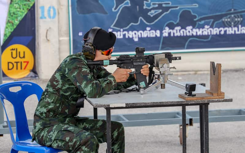 """タイの国産小銃""""DTI7"""""""
