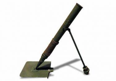 塹壕が掘れて迫撃砲にも使えるVM-37シャベル迫撃砲