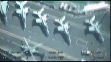 イラン・イスラム革命防衛隊のドローンが米海軍空母を真上から撮影