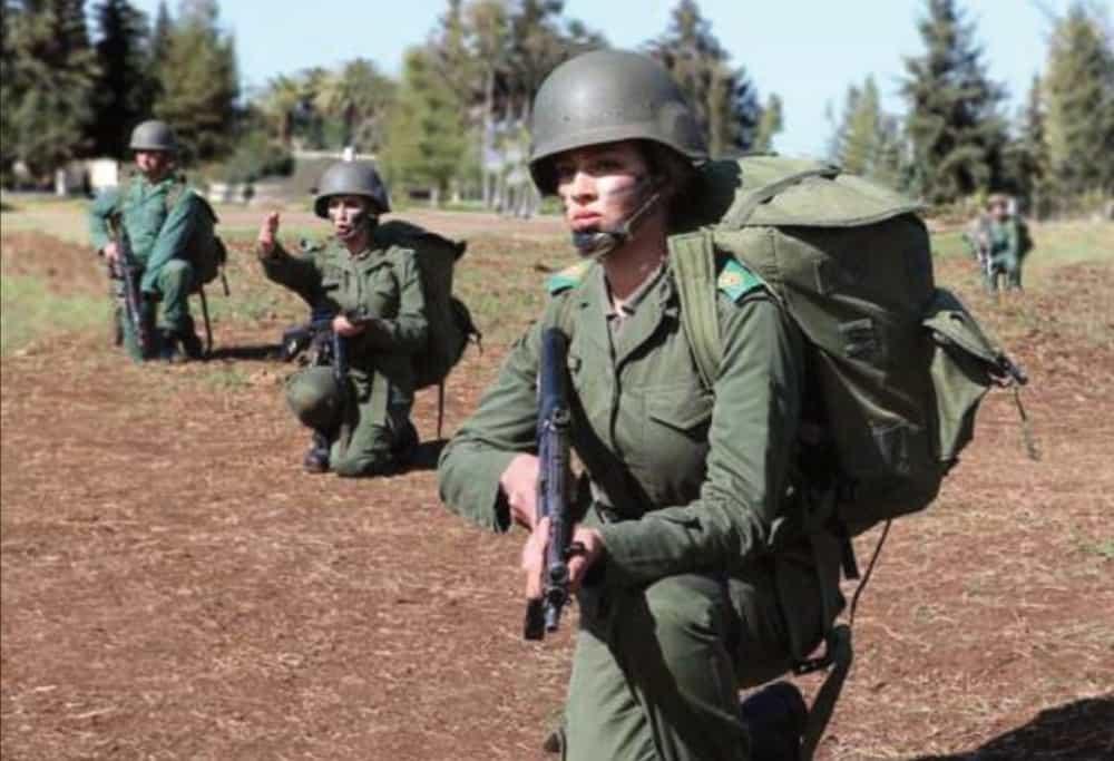モロッコ女性兵士