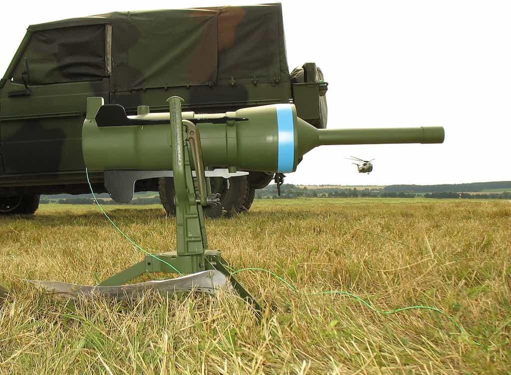 射程60m、ドイツの対戦車ロケット地雷DM-12 PARM