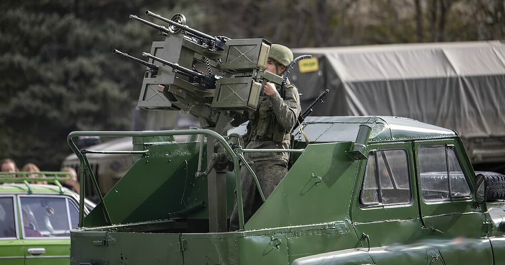 PK機関銃4挺を組みわせた対ドローン兵器が登場